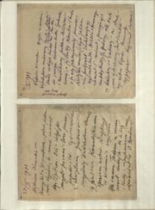 Listy Stanisława Ignacego Witkiewicza do żony Jadwigi z Unrugów Witkiewiczowej. List z 19.10.1934. List z 23.10.1934.