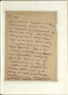 Listy Stanisława Ignacego Witkiewicza do żony Jadwigi z Unrugów Witkiewiczowej. List z 25.02.1935.