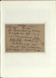 Listy Stanisława Ignacego Witkiewicza do żony Jadwigi z Unrugów Witkiewiczowej. Kartka pocztowa z 04.03.1935.