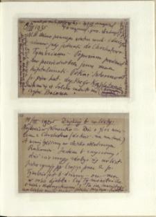 Listy Stanisława Ignacego Witkiewicza do żony Jadwigi z Unrugów Witkiewiczowej. Kartka pocztowa z 09.03.1935. Kartka pocztowa z 11.03.1935.