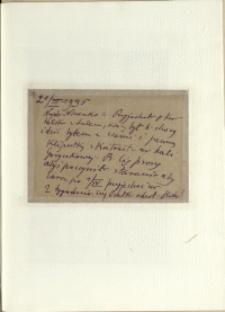 Listy Stanisława Ignacego Witkiewicza do żony Jadwigi z Unrugów Witkiewiczowej. Kartka pocztowa z 21.03.1935.