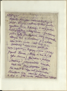 Listy Stanisława Ignacego Witkiewicza do żony Jadwigi z Unrugów Witkiewiczowej. List z 25.04.1935.