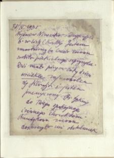Listy Stanisława Ignacego Witkiewicza do żony Jadwigi z Unrugów Witkiewiczowej. List z 28.04.1935.