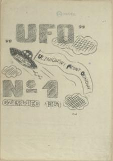 UFO : pismo Uczniowskiego Front Odnowy. 1981 nr 1