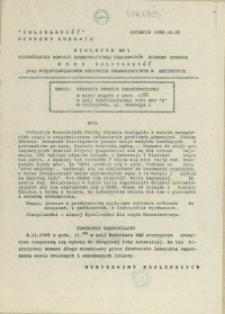 Biuletyn Wojewódzkiej Komisji Koordynacyjnej Pracowników Ochrony Zdrowia. 1989 nr 1