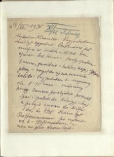 Listy Stanisława Ignacego Witkiewicza do żony Jadwigi z Unrugów Witkiewiczowej. List z 14.07.1935.