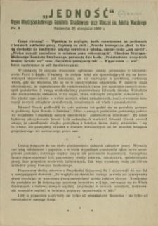 Jedność : Organ Międzyzakładowego Komitetu Strajkowego przy Stoczni im. Adolfa Warskiego. 1980 nr 2