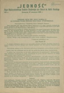 Jedność : Organ Międzyzakładowego Komitetu Strajkowego przy Stoczni im. Adolfa Warskiego. 1980 nr 4