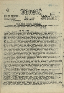 Jedność : Organ Międzyzakładowego Komitetu Strajkowego przy Stoczni im. Adolfa Warskiego. 1982 nr 24/84