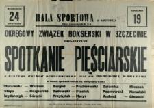 [Afisz] Okręgowy Związek Bokserski w Szczecinie [...]