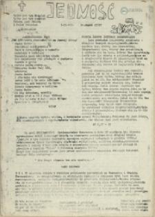 Jedność : Organ Międzyzakładowego Komitetu Strajkowego przy Stoczni im. Adolfa Warskiego. 1982 nr 27/87