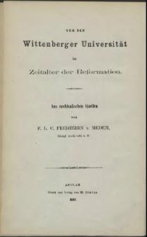Die Universitäts-Jahre der Herzoge Ernst Ludwig und Barnim von Pommern