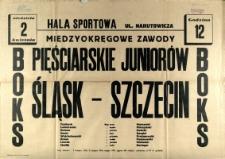 [Afisz] Międzyokręgowe zawody pięściarskie juniorów Śląsk - Szczecin [...]
