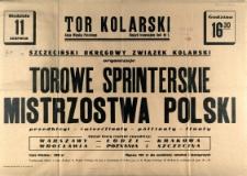 [Afisz] Torowe Sprinterskie Mistrzostwa Polski [...]