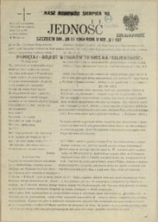 Jedność : Organ Międzyzakładowego Komitetu Strajkowego przy Stoczni im. Adolfa Warskiego. 1984 nr 3