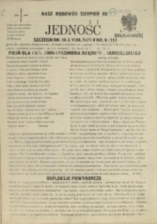 Jedność : Organ Międzyzakładowego Komitetu Strajkowego przy Stoczni im. Adolfa Warskiego. 1984 nr 8