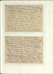Listy Stanisława Ignacego Witkiewicza do żony Jadwigi z Unrugów Witkiewiczowej. Kartka pocztowa z 24.08.1935. Kartka pocztowa z 25.08.1935.