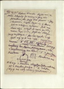 Listy Stanisława Ignacego Witkiewicza do żony Jadwigi z Unrugów Witkiewiczowej. List z 01.10.1935.
