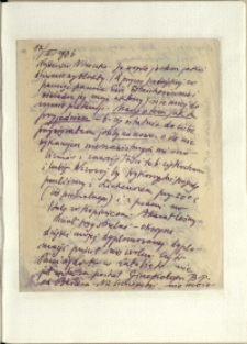 Listy Stanisława Ignacego Witkiewicza do żony Jadwigi z Unrugów Witkiewiczowej. List z 12.02.1936.