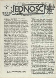 Jedność : Organ Międzyzakładowego Komitetu Strajkowego przy Stoczni im. Adolfa Warskiego. 1985 nr 8