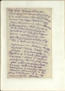 Listy Stanisława Ignacego Witkiewicza do żony Jadwigi z Unrugów Witkiewiczowej. List z 08.03.1936.