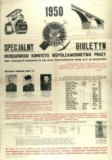[Afisz] Specjalny Biuletyn Okręgowego Komitetu Współzawodnictwa Pracy [...]