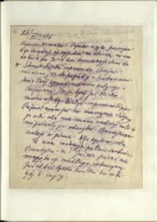 Listy Stanisława Ignacego Witkiewicza do żony Jadwigi z Unrugów Witkiewiczowej. List z 26.04.1936.