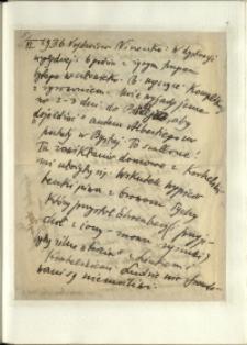 Listy Stanisława Ignacego Witkiewicza do żony Jadwigi z Unrugów Witkiewiczowej. List z 05.06.1936.