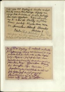 Listy Stanisława Ignacego Witkiewicza do żony Jadwigi z Unrugów Witkiewiczowej. Kartka pocztowa z 09.06.1936. Kartka pocztowa z 29.06.1936.