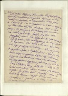 Listy Stanisława Ignacego Witkiewicza do żony Jadwigi z Unrugów Witkiewiczowej. List z 23.07.1936.