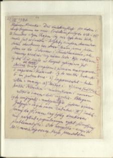 Listy Stanisława Ignacego Witkiewicza do żony Jadwigi z Unrugów Witkiewiczowej. List z 27.07.1936.