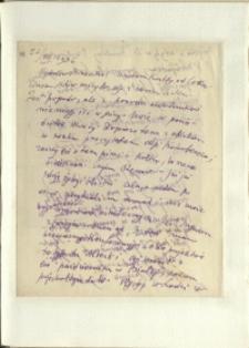 Listy Stanisława Ignacego Witkiewicza do żony Jadwigi z Unrugów Witkiewiczowej. List z 22.08.1936.
