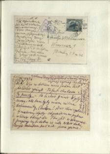 Listy Stanisława Ignacego Witkiewicza do żony Jadwigi z Unrugów Witkiewiczowej. Kartki pocztowe z 15.09.1936.