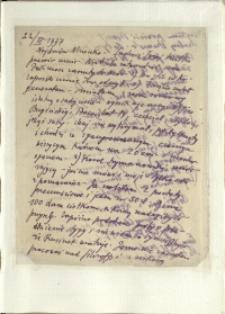 Listy Stanisława Ignacego Witkiewicza do żony Jadwigi z Unrugów Witkiewiczowej. List z 22.03.1937.