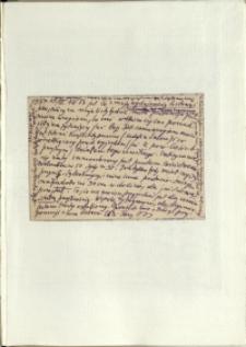 Listy Stanisława Ignacego Witkiewicza do żony Jadwigi z Unrugów Witkiewiczowej. Kartka pocztowa z 25.03.1937.