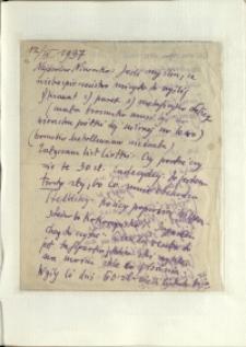 Listy Stanisława Ignacego Witkiewicza do żony Jadwigi z Unrugów Witkiewiczowej. List z 12.04.1937.