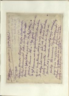 Listy Stanisława Ignacego Witkiewicza do żony Jadwigi z Unrugów Witkiewiczowej. List z 28.04.1937.