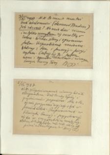 Listy Stanisława Ignacego Witkiewicza do żony Jadwigi z Unrugów Witkiewiczowej. Karta pocztowa z 03.06.1937. Karta pocztowa z 05.06.1937.