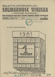 Solidarność Wiejska : biuletyn informacyjny Pomorze Zachodni : pismo Niezależnych Samorządnych Związków Zawodowych Rolników Indywidualnych. 1981 nr 3