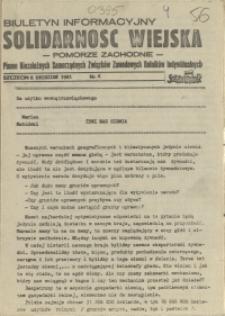 Solidarność Wiejska : biuletyn informacyjny Pomorze Zachodni : pismo Niezależnych Samorządnych Związków Zawodowych Rolników Indywidualnych. 1981 nr 4