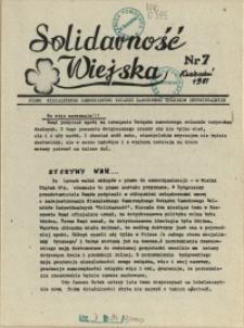 Solidarność Wiejska : biuletyn informacyjny Pomorze Zachodni : pismo Niezależnych Samorządnych Związków Zawodowych Rolników Indywidualnych. 1981 nr 7 kwiecień