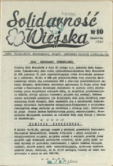 Solidarność Wiejska : biuletyn informacyjny Pomorze Zachodni : pismo Niezależnych Samorządnych Związków Zawodowych Rolników Indywidualnych. 1981 nr 10