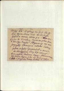 Listy Stanisława Ignacego Witkiewicza do żony Jadwigi z Unrugów Witkiewiczowej. Kartka pocztowa z 17.07.1937.