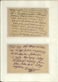 Listy Stanisława Ignacego Witkiewicza do żony Jadwigi z Unrugów Witkiewiczowej. Kartka pocztowa z 27.07.1937. Kartka pocztowa z 29.07.1937.