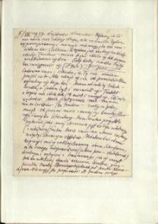 Listy Stanisława Ignacego Witkiewicza do żony Jadwigi z Unrugów Witkiewiczowej. List z 05.08.1937.