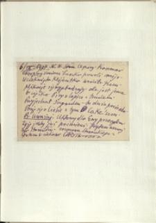 Listy Stanisława Ignacego Witkiewicza do żony Jadwigi z Unrugów Witkiewiczowej. Kartka pocztowa z 06.09.1937.