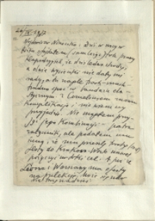 Listy Stanisława Ignacego Witkiewicza do żony Jadwigi z Unrugów Witkiewiczowej. List z 26.09.1937.
