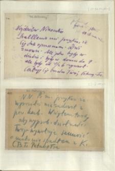 Listy Stanisława Ignacego Witkiewicza do żony Jadwigi z Unrugów Witkiewiczowej. List napisany pomiędzy 22 a 31.05.1937. List napisany pomiędzy styczniem a marcem 1937.