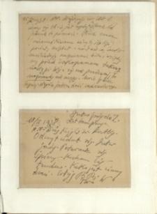 Listy Stanisława Ignacego Witkiewicza do żony Jadwigi z Unrugów Witkiewiczowej. Kartka pocztowa z 15.02.1938. Kartka pocztowa z 18.02.1938.