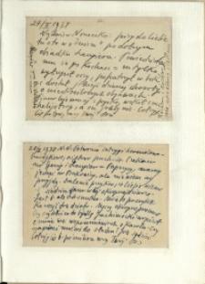 Listy Stanisława Ignacego Witkiewicza do żony Jadwigi z Unrugów Witkiewiczowej. Kartka pocztowa z 27.02.1938. Kartka pocztowa z 28.02.1938.